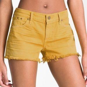 Citizens of Humanity Yellow Cutoff Shorts
